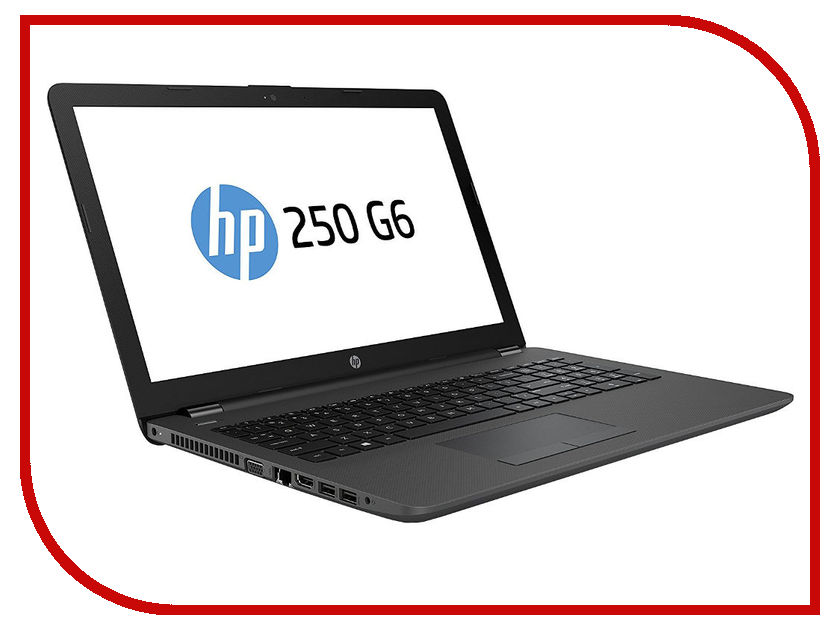 Ноутбук HP 250 G6 3VK27EA Dark Ash Silver (Intel Core i3-7020U 2.3 GHz/8192Mb/256Gb SSD/DVD-RW/Intel HD Graphics/Wi-Fi/Bluetooth/Cam/15.6/1366x768/DOS)