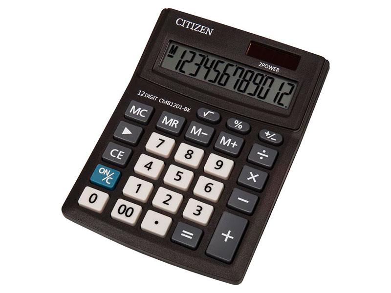 Калькулятор Citizen Bussiness Line CMB1201BK - двойное питание