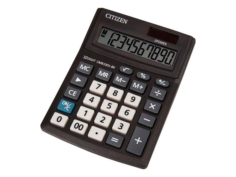 Калькулятор Citizen Bussiness Line CMB1001BK - двойное питание