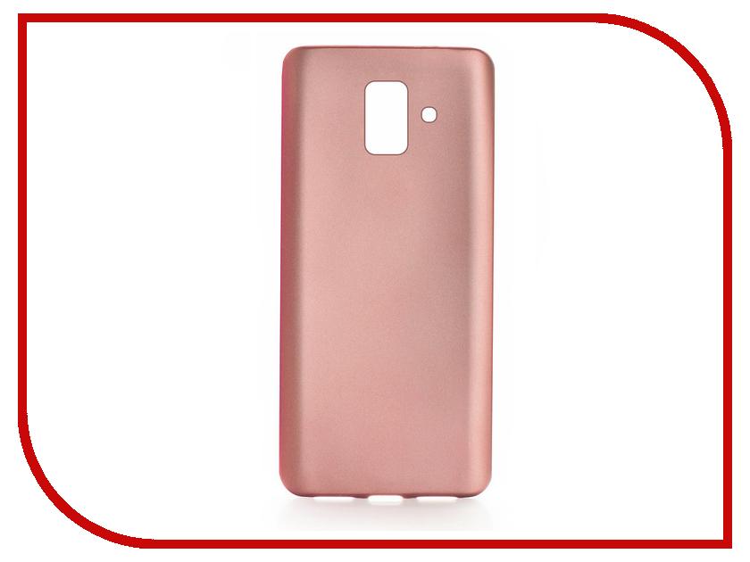 Аксессуар Чехол для Samsung Galaxy A6 2018 Gurdini Soft Touch Rose Gold 906387 аксессуар чехол накладка samsung galaxy a7 sm a700 moshi soft touch rose 48834