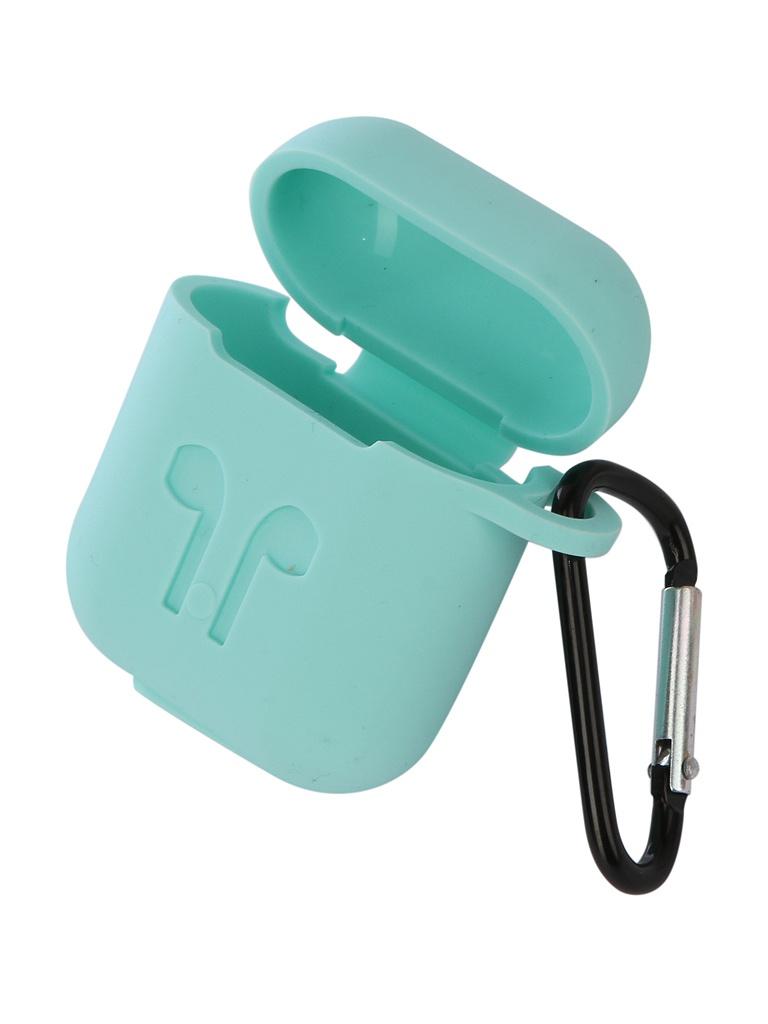 Аксессуар Чехол Gurdini Soft Touch Silicone для APPLE Airpods Mint 906249