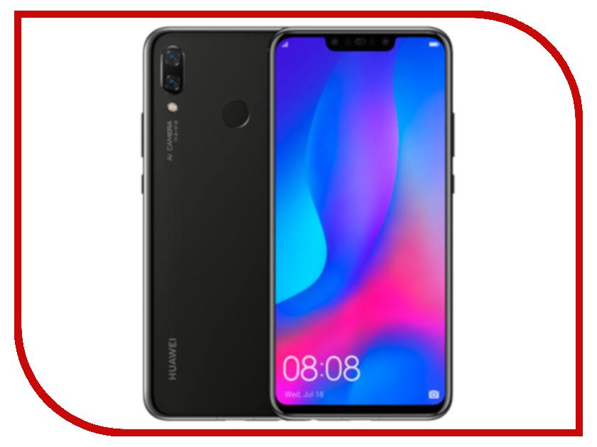 Сотовый телефон Huawei Nova 3 4Gb RAM 128Gb Black mooncase чехол для huawei ascend p8 wallet card slot with kickstand flip leather back white