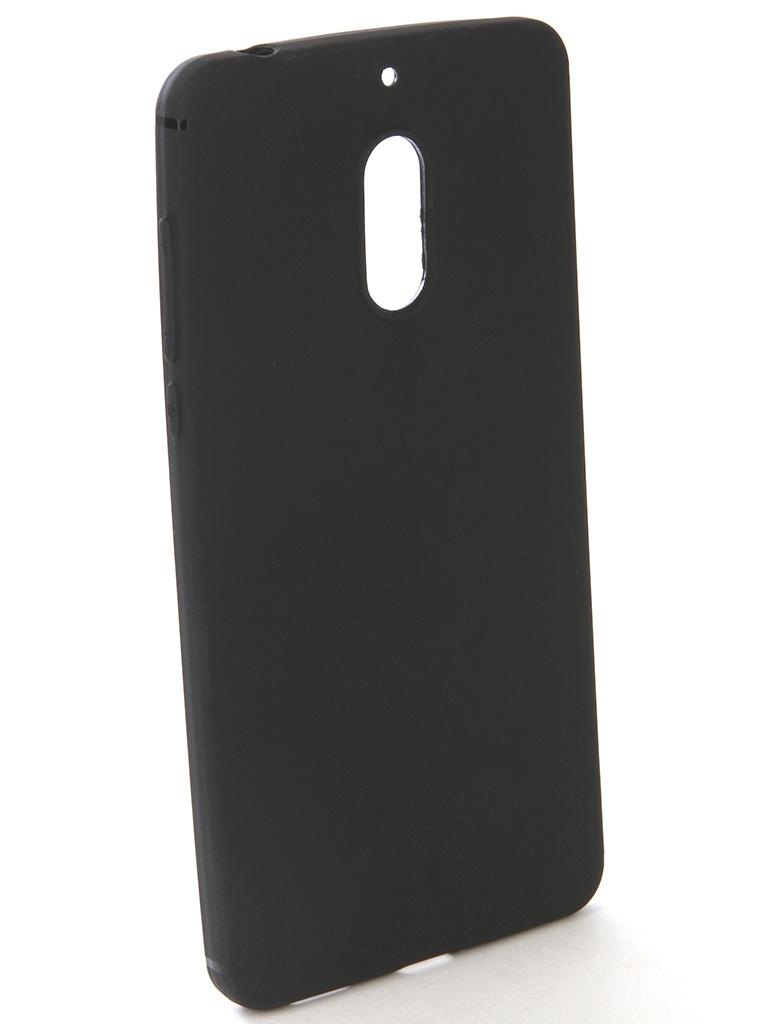 Аксессуар Чехол-накладка Gecko для Nokia 6 Silicone Black S-GESKA-NOK6-BL аксессуар чехол для nokia 7 plus gecko transparent white s g nok7plus wh