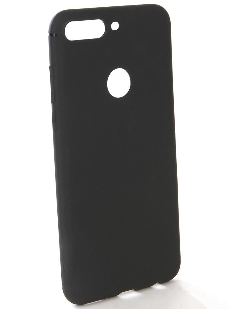 Аксессуар Чехол-накладка Gecko для Huawei Y7 Pro Silicone Black S-GESKA-HAW-Y7-Pro-BL аксессуар чехол накладка для samsung galaxy s7 edge gecko silicone black s geska sam s7 edge bl