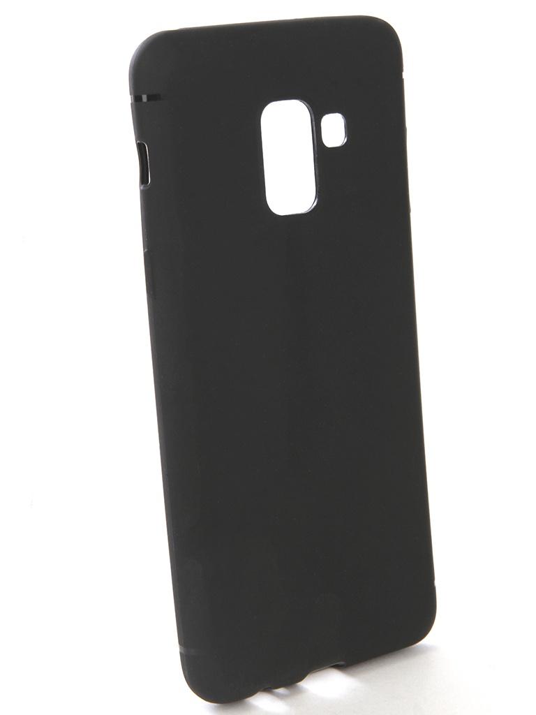 Аксессуар Чехол-накладка Gecko для Samsung Galaxy A5 2018 Silicone Black S-GESKA-SAM-A5-2018-BL смартфон samsung galaxy a5 2016 4g 16gb black
