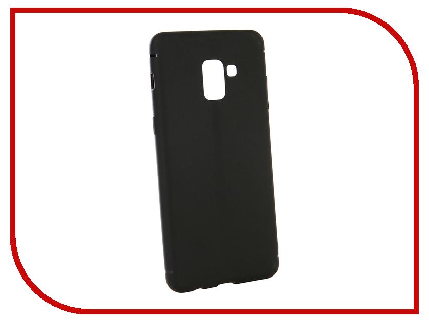 Аксессуар Чехол-накладка для Samsung Galaxy A7 2018 Gecko Silicone Black S-GESKA-SAM-A7-2018-BL mooncase galsxy а7 футляр роскошные chrome горный хрусталь bling звезда задняя крышка чехол для samsung galsxy a7 розовый