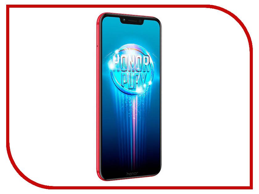 Сотовый телефон Honor Play 4/64GB Red mooncase slim leather side flip wallet card slot pouch with kickstand shell back чехол для huawei honor 4 play brown