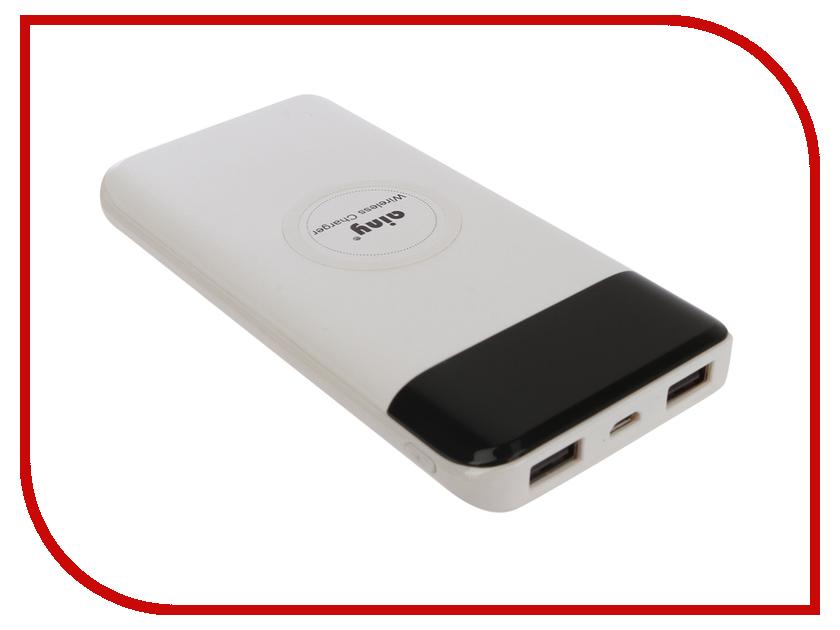 Фото - Аккумулятор Ainy E82-001B 10000mAh с функцией беспроводной зарядки White аккумулятор ainy e82 001k 10000mah с функцией беспроводной зарядки grey
