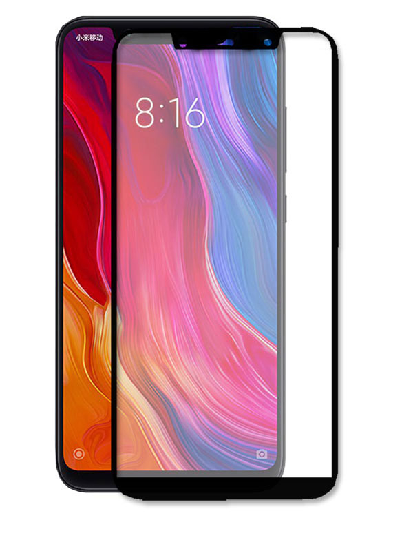 Аксессуар Защитное стекло Ainy для Xiaomi Mi8 SE Full Screen Cover 0.33mm Black AF-X1222A for lenovo zuk z2 lcd screen display with touch screen digitizer panel glass assembly black white replacement parts free shipping