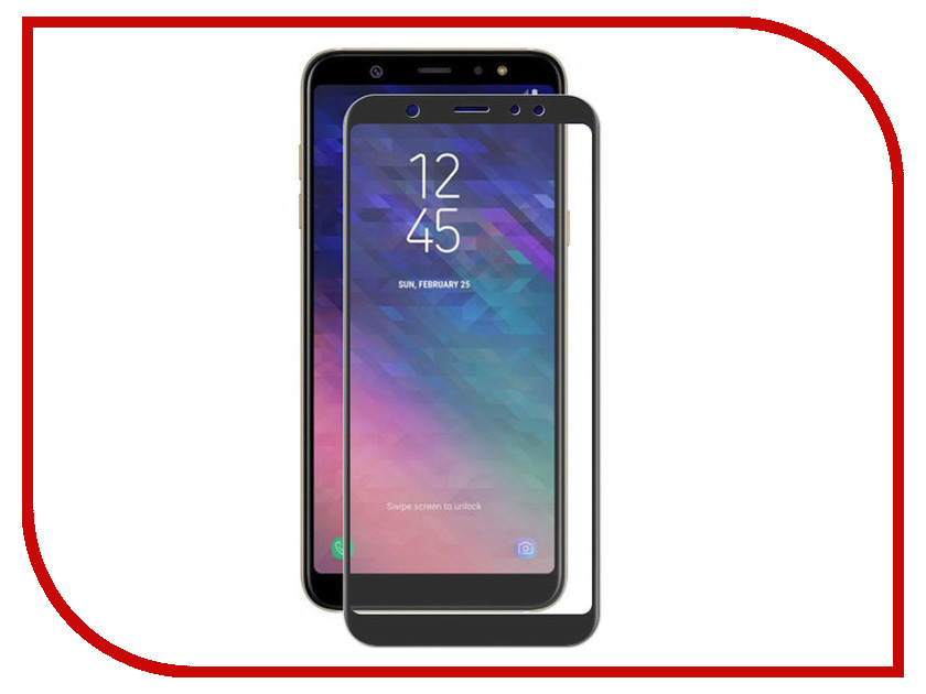 Аксессуар Защитное стекло для Samsung Galaxy A6 2018 Ainy Full Screen Cover 0.25mm Black с полноклеевой поверхностью AF-S1233A nokotion 813967 501 818060 601 laptop motherboard for hp 15 af abl51 la c781p a6 6310m cpu mainboard full works