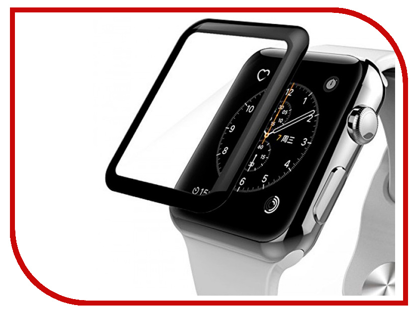 Аксессуар Защитное стекло Ainy Full Screen Cover 3D 0.2mm для APPLE Watch 38mm Black AF-A1218A top leather watch box black 10 grids watch storage boxes fashion brand watch display box watch gift cases b038