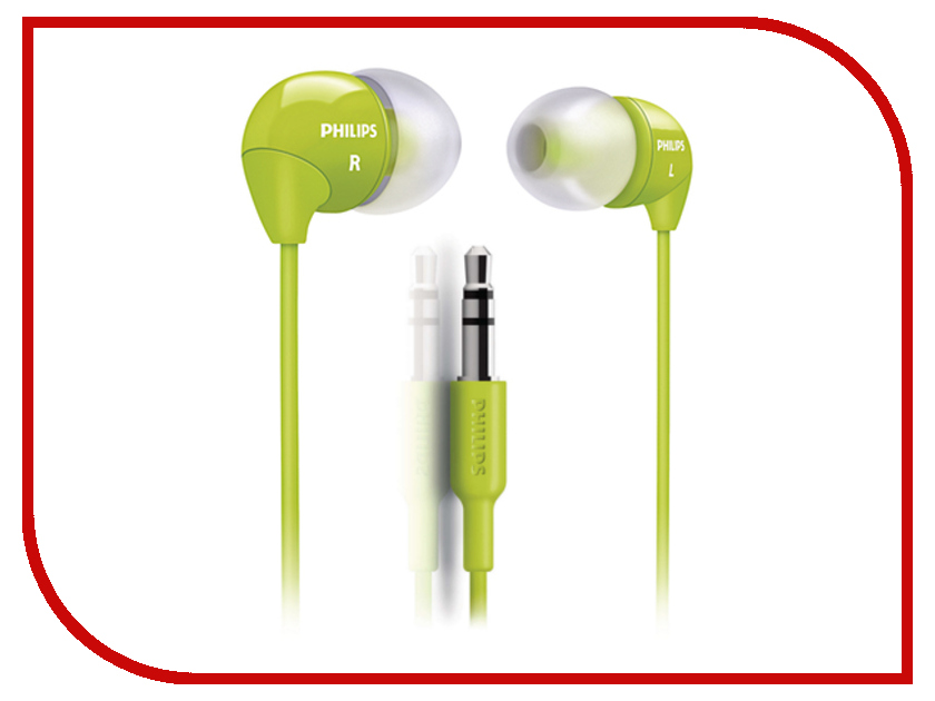 Наушники Philips SHE3590 Green наушники philips she3590 синий