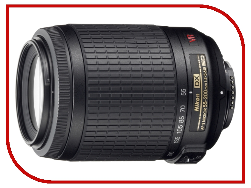 Объектив Nikon Nikkor AF-S 55-200 mm F/4-5.6 G IF-ED DX VR<br>