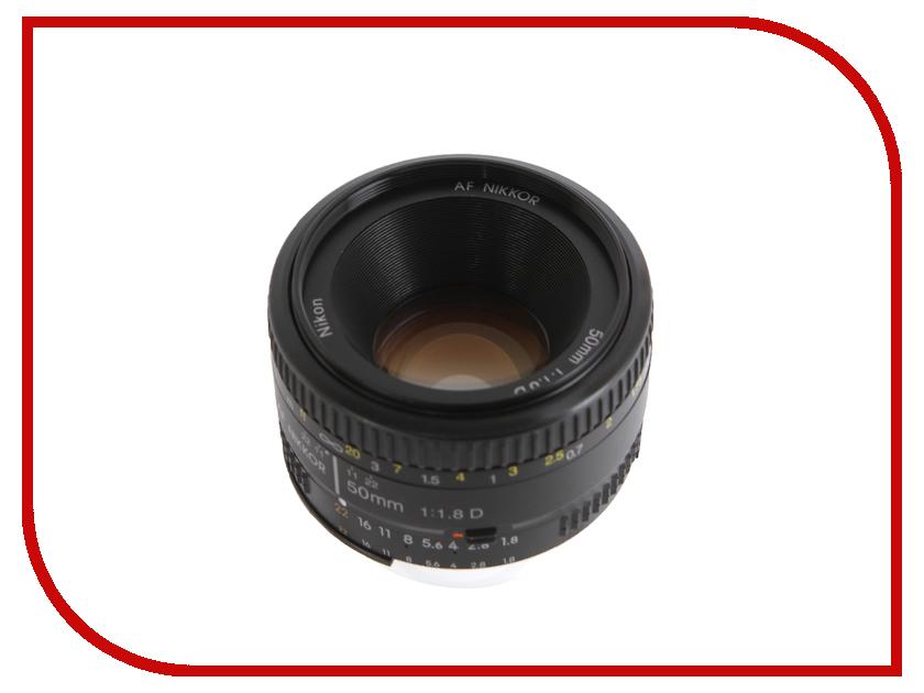 Объектив Nikon Nikkor AF 50 mm F/1.8 D nikon nikon af s nikkor 28mm f 1 8g фиксированный фокус широкоугольный объектив