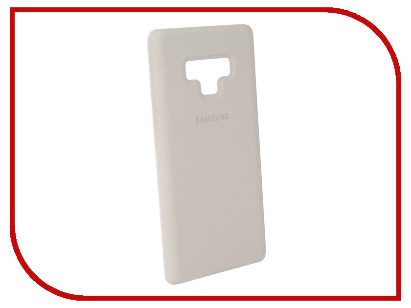 Аксессуар Чехол-накладка Samsung Galaxy Note 9 Silicone Cover White EF-PN960TWEGRU аксессуар чехол samsung galaxy note 7 n930 leather cover black ef vn930lbegru