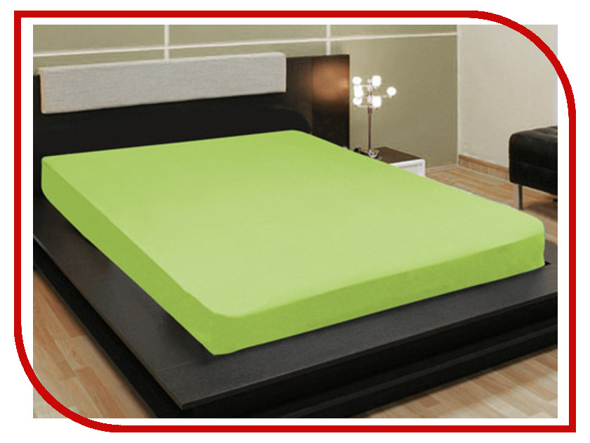 Простыня Amore Mio AG 200x200 Трикотаж Green 4506