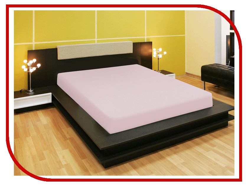 Простыня Amore Mio AG 140x200 Трикотаж Light Pink 80207