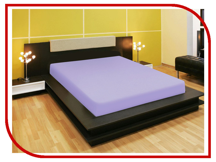 Простыня Amore Mio AG 120x200 Трикотаж Lilac 80199