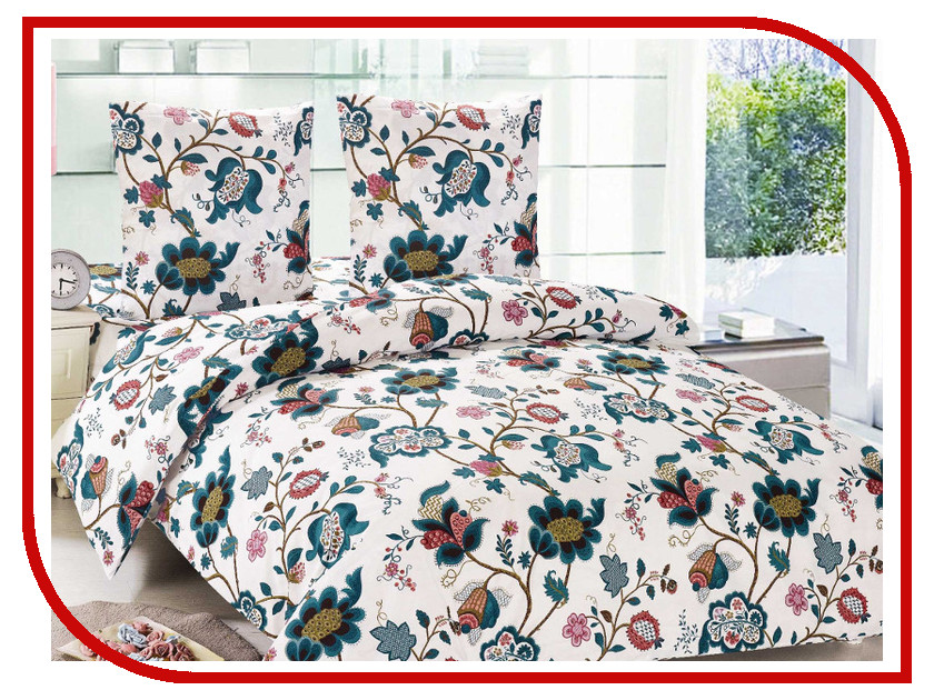 Постельное белье Amore Mio BZ Olga Комплект 2 спальный Поплин 85954 постельное белье этель зелёно серые зигзаги комплект 1 5 спальный поплин 2565810