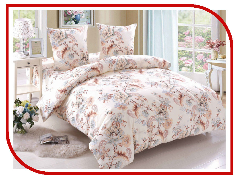 Постельное белье Amore Mio BZ Grace Комплект 1.5 спальный Поплин 89361 постельное белье этель зелёно серые зигзаги комплект 1 5 спальный поплин 2565810