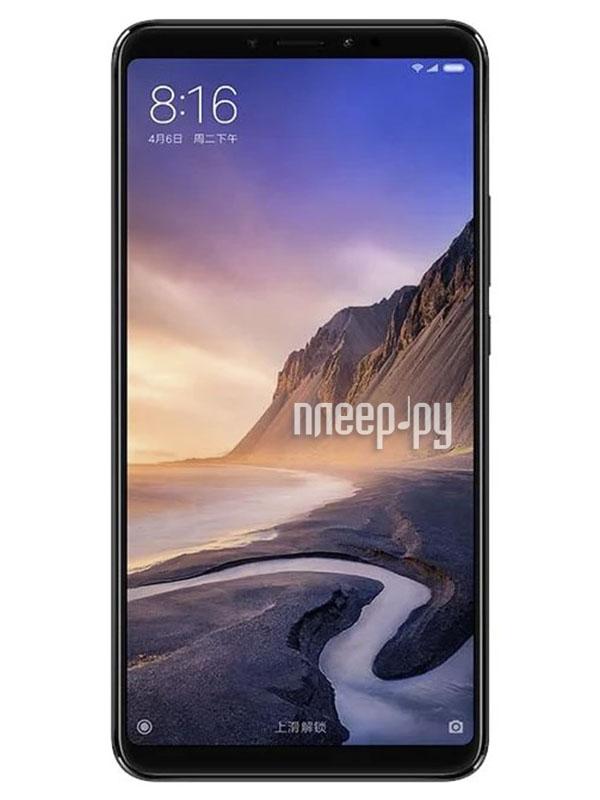 Сотовый телефон Xiaomi Mi Max 3 4/64GB Black сотовый телефон xiaomi mi a2 4 64gb blue