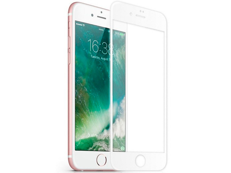 Защитное стекло Innovation для APPLE iPhone 7 2D Full Glue Cover White 12326 аксессуар защитное стекло для nokia 6 2018 gecko 2d fullscreen black zs26 gnok6 2018 2d bl