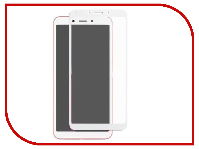 Аксессуар Защитное стекло для Xiaomi Redmi 6/6A Innovation 2D Full Glue Cover White 12349 проектор benq mw632st серый [9h je277 13e]