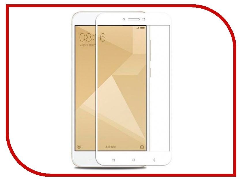 Аксессуар Защитное стекло для Xiaomi Redmi Note 4X Innovation 2D Full Glue Cover White 12344 аксессуар защитное стекло xiaomi redmi note 3 pro innovation 2d colorful white 10152