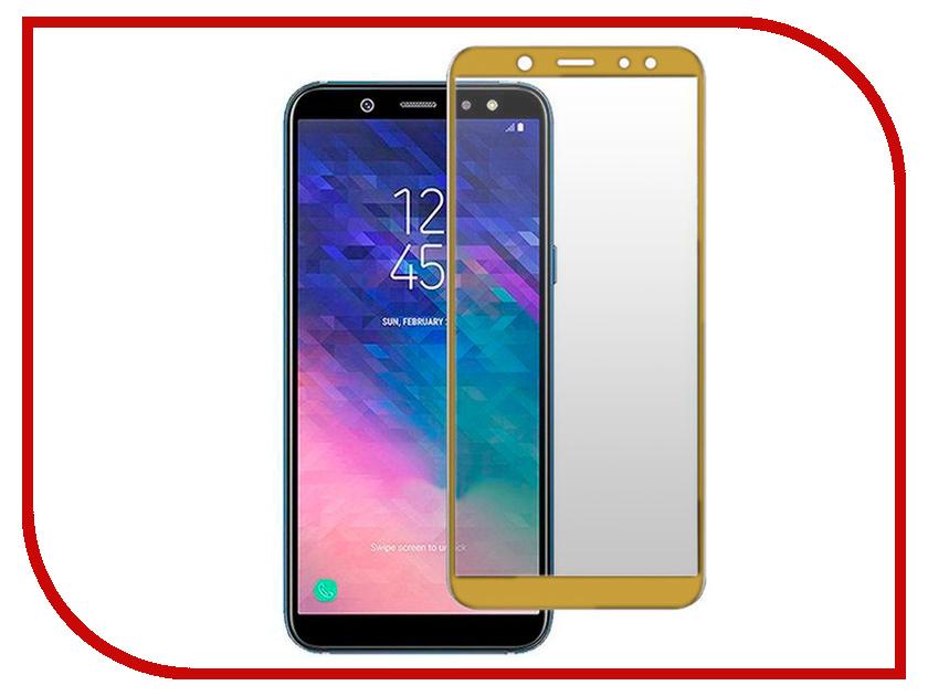 Аксессуар Защитное стекло для Samsung Galaxy A6 Plus Innovation 2D Full Glue Cover Gold 12332 аксессуар защитное стекло для samsung galaxy a6 plus gurdini 2d 0 26mm black 906635