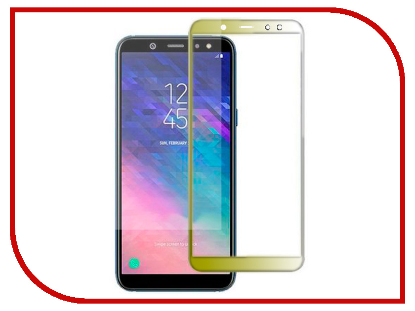 Аксессуар Защитное стекло для Samsung Galaxy A6 Innovation 2D Full Glue Cover Gold 12331 action camera h3r h3 ultra hd 4k 1080p 170d wide angle dual screen sports camera 2pcs battery dual charger