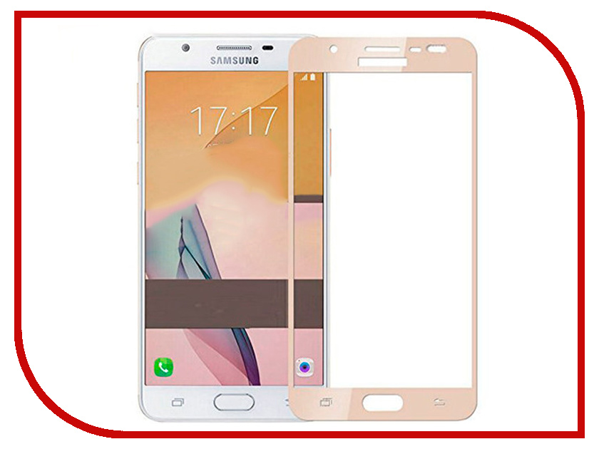 Аксессуар Защитное стекло для Samsung Galaxy J530 2017 Innovation 2D Full Glue Cover Gold 12337 футболка wearcraft premium slim fit printio i love russia