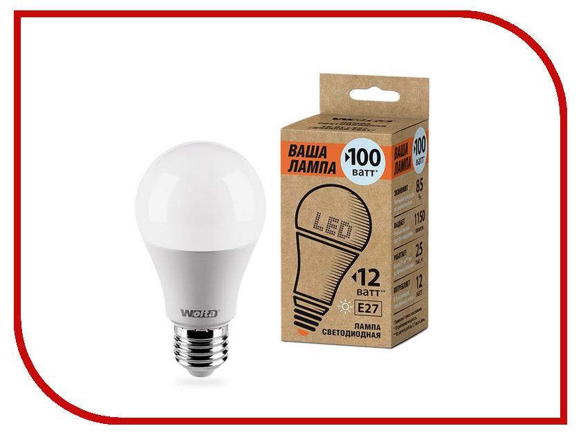 Лампочка Wolta LED A60/12W/4000K/E27 25S60BL12E27-P цена