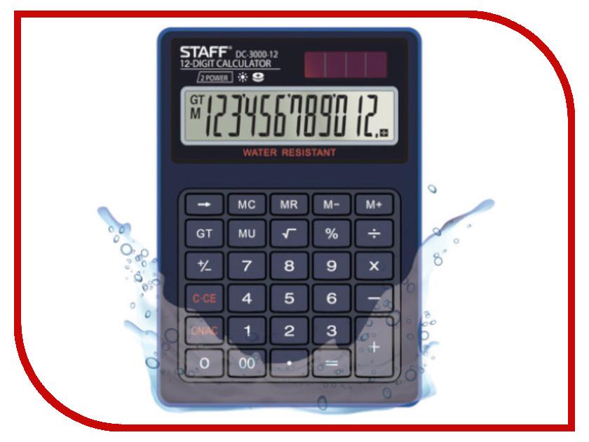Калькулятор Staff Plus DC-3000-12 - двойное питание канцелярия staff калькулятор настольный stf 555 white