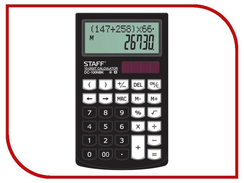 Калькулятор Staff Plus DC-100NBK Black 110db loud security alarm siren horn speaker buzzer black red dc 6 16v
