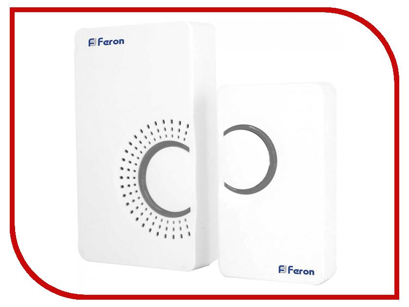 Звонок дверной Feron E-373 White-Gray 44161 цифровой led 32 мелодия песни беспроводной дверной звонок с дистанционным управлением музыкальные номера