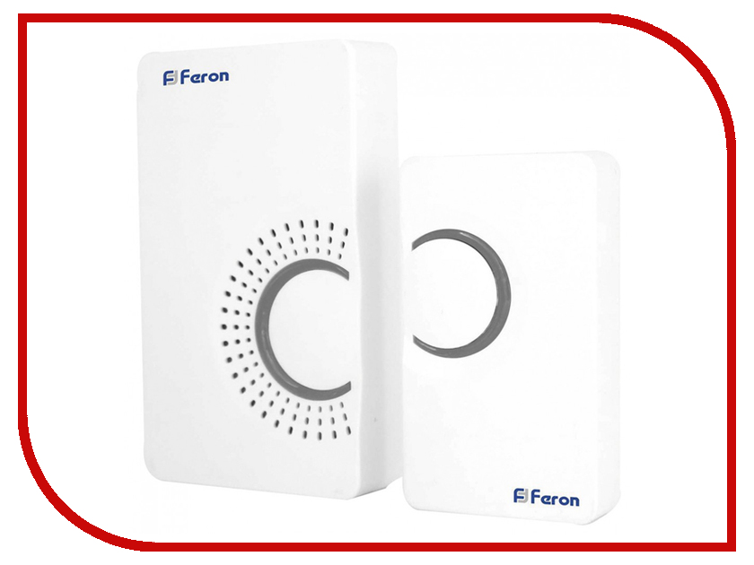 Звонок дверной Feron E-373 White-Gray 44161 звонок дверной feron e 374 white blue 44164