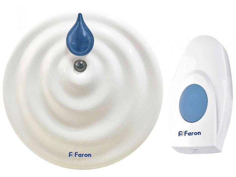 Звонок дверной Feron E-374 White-Blue 44164