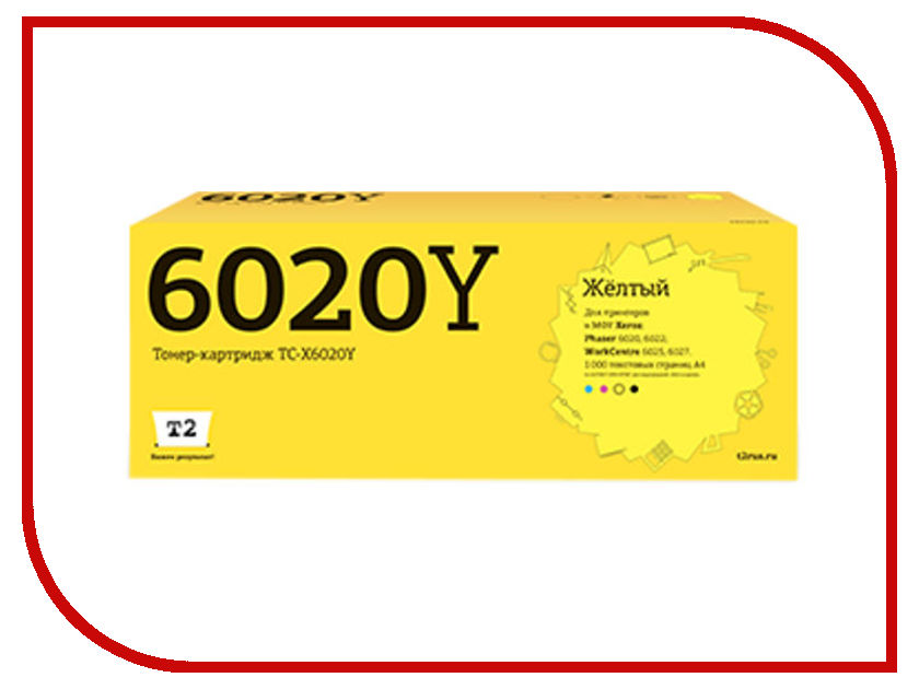Картридж T2 TC-X6020Y Yellow для Xerox Phaser 6020/6022/WorkCentre 6025/6027 с чипом cj da cj bm cj ai