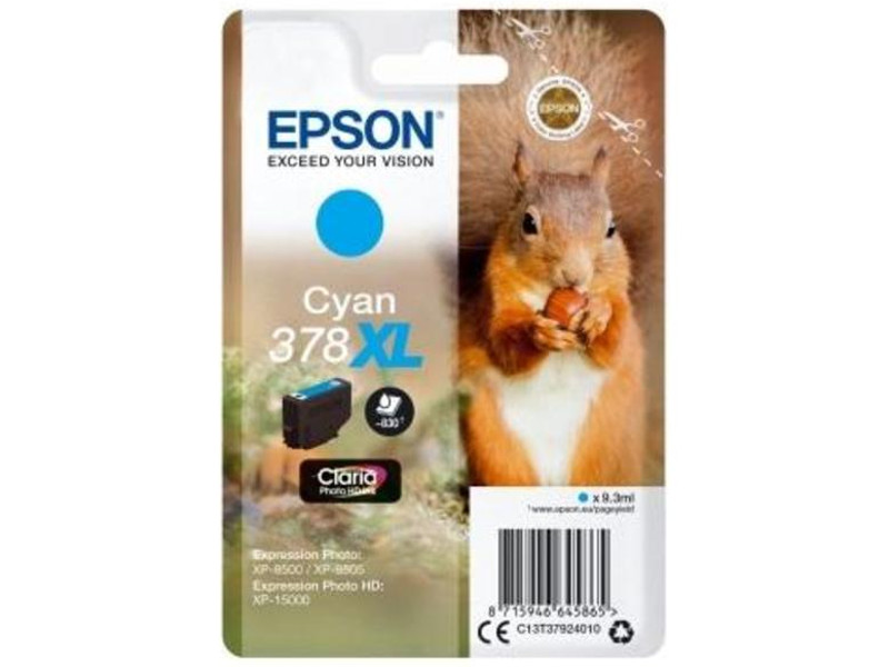 Картридж Epson 378XL Cyan C13T37924020 для XP-15000/XP-8500/XP-8505 цена в Москве и Питере