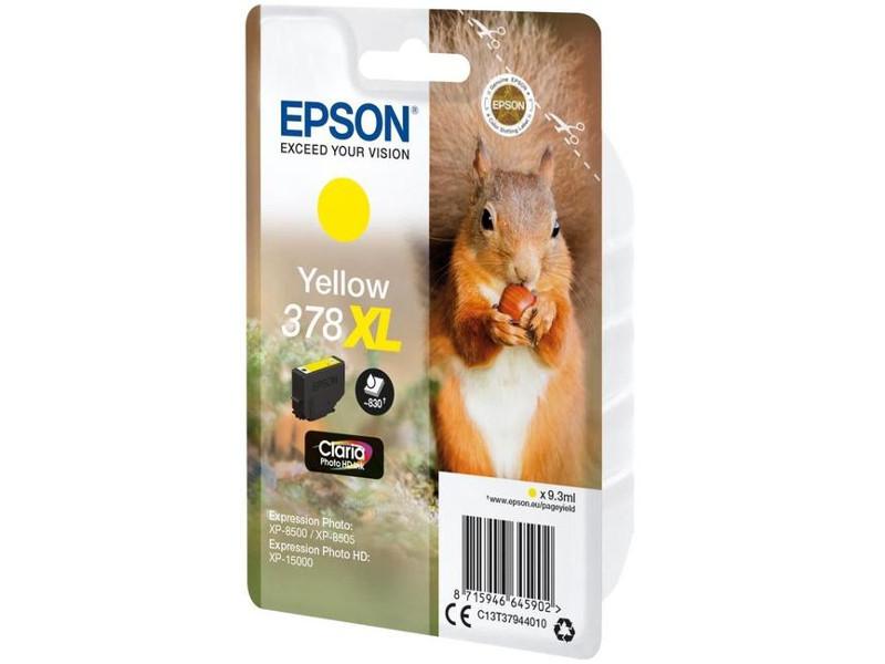 Картридж Epson 378XL Yellow C13T37944020 для XP-15000/XP-8500/XP-8505 цена в Москве и Питере