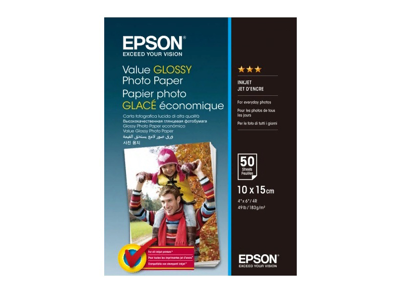 Фотобумага Epson Value Glossy Photo Paper 183g/m2 10x15cm 50 листов C13S400038