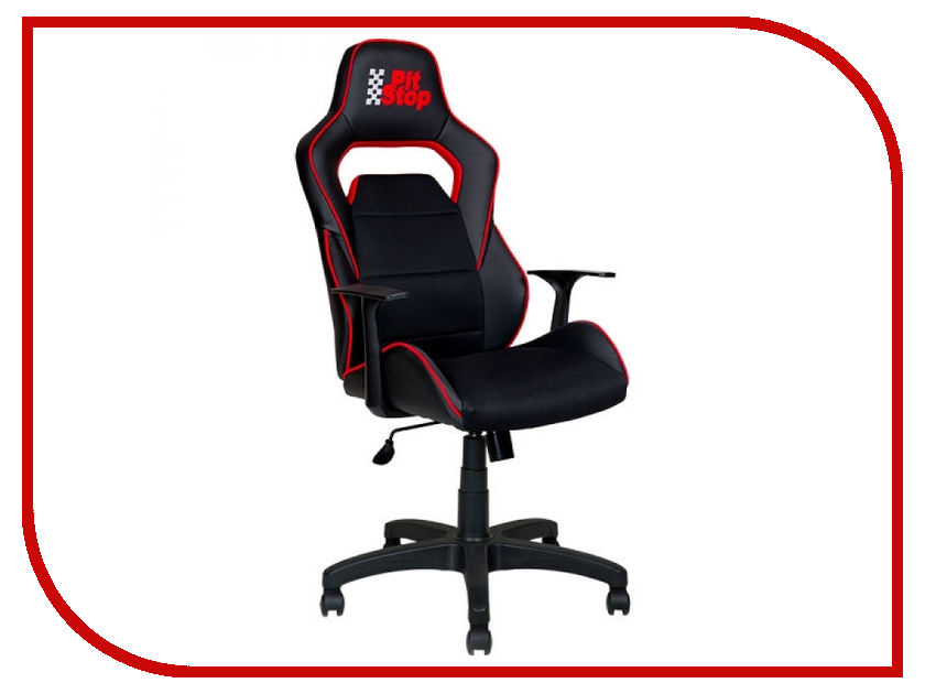 Компьютерное кресло Алвест AV 140 PL (682 T) MK эко кожа Black-Black-Red