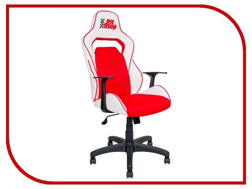 Компьютерное кресло Алвест AV 140 PL (682 T) MK эко кожа White-Red