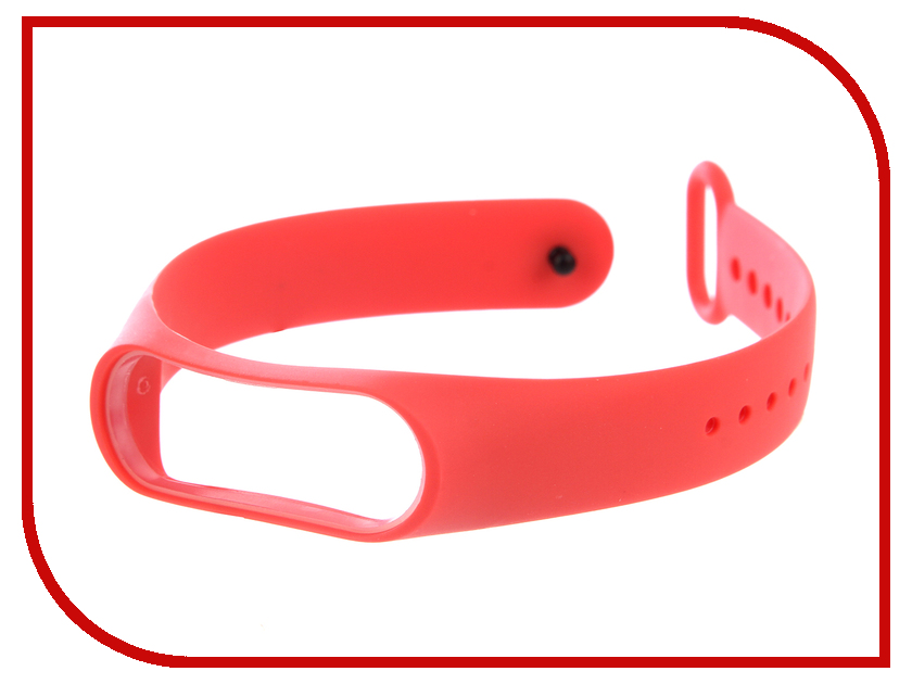 Aксессуар Силиконовый ремешок Red Line for Xiaomi Mi Band 3 Red concise dial silicone band red led digital wrist watch red 1 x cr2032
