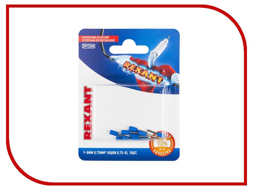 Наконечник штыревой втулочный Rexant 10шт Blue 06-0404-A цена и фото