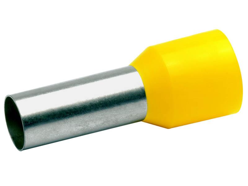 Наконечник штыревой втулочный Rexant 10шт Yellow 06-0405-A