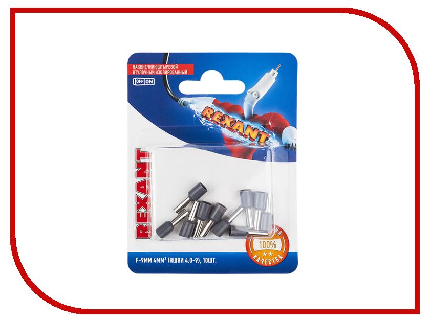 Наконечник штыревой втулочный Rexant 10шт Grey 06-0408-A