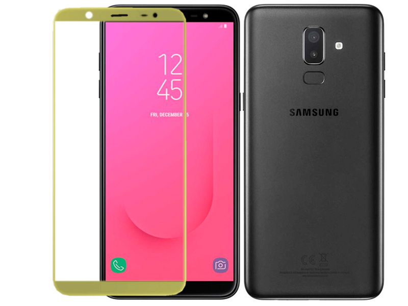 Аксессуар Защитное стекло для Samsung Galaxy J8 2018 Red Line Full Screen Tempered Glass Gold