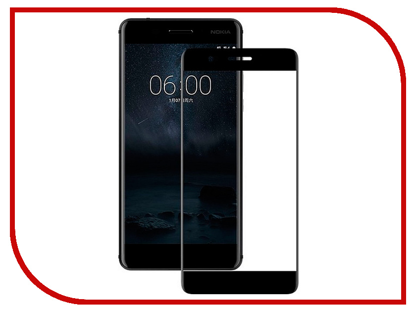 Аксессуар Защитное стекло для Nokia 5.1 Red Line Full Screen Tempered Glass Black аксессуар защитное стекло для asus zenfone live za550kl red line full screen tempered glass black