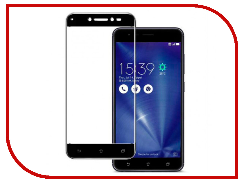 Аксессуар Защитное стекло для ASUS ZenFone Live ZA550KL Red Line Full Screen Tempered Glass Full Glue Black аксессуар защитное стекло для asus zenfone live za550kl red line full screen tempered glass black
